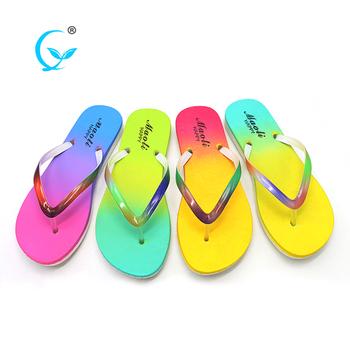 e1ea8f6b3777 Personalized Sport Sandals Pvc Lady Slipper Flip Flops Shoes - Buy ...