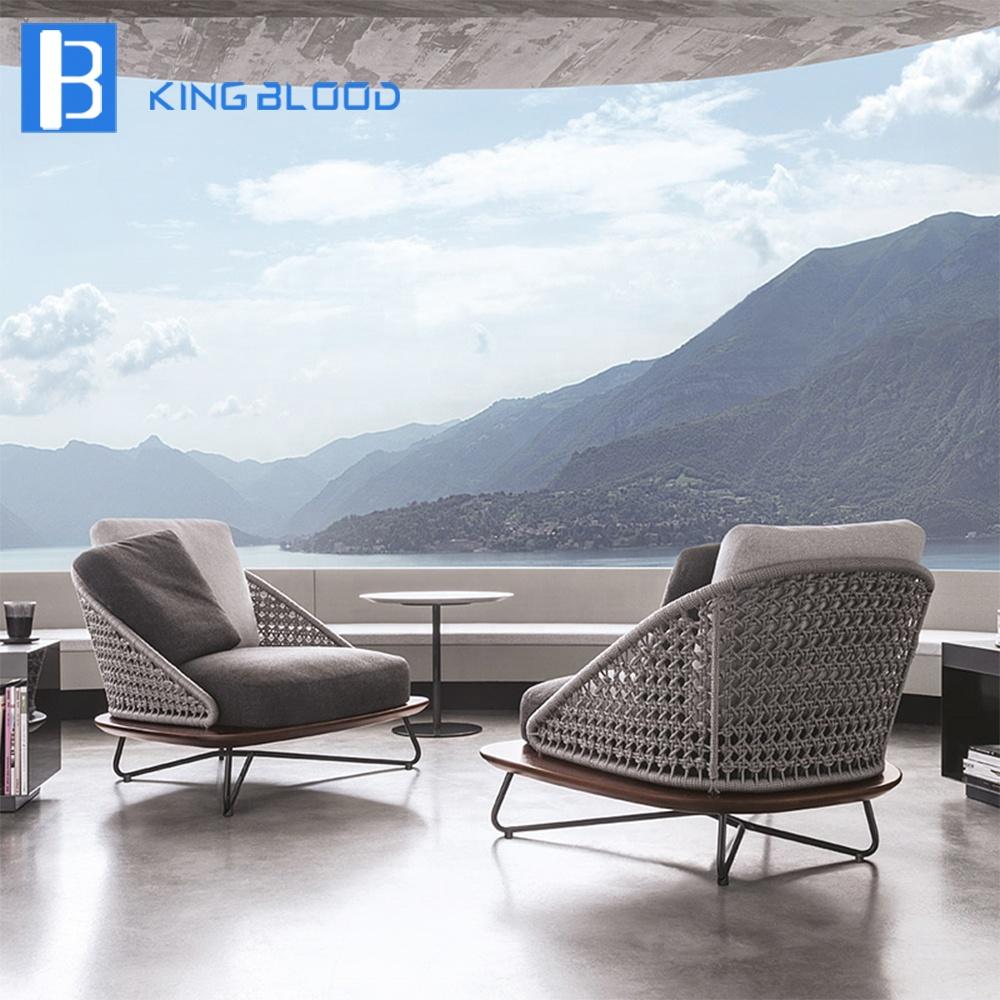 Italy modern patio garden furniture dining chair rope garden sofa outdoor furniture