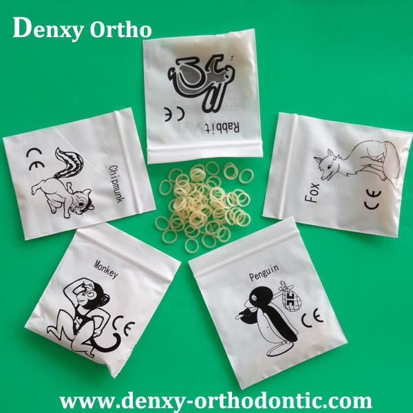 CE/FDA /ISO elastics dental orthodontic small rubber bands