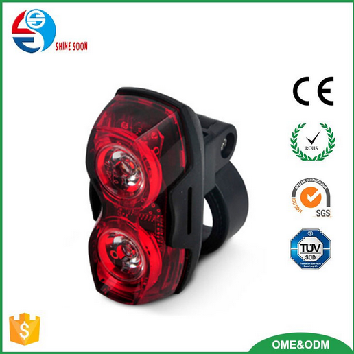 2*0.5W red LED bicycle light, Mountain Bicycle Accessories, raypal LED flash light