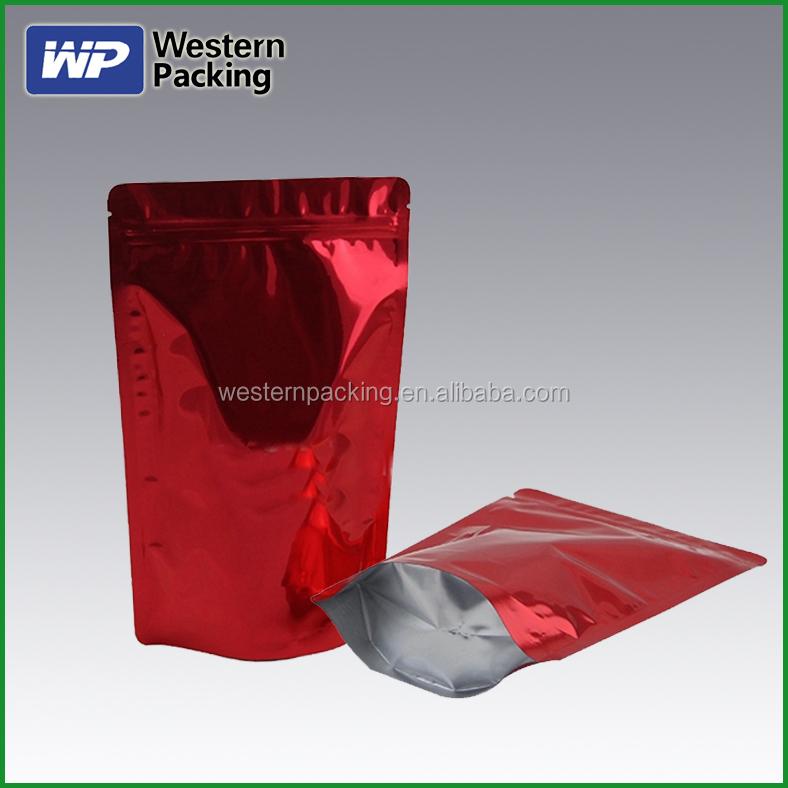 Custom Printed Ziplock Plastic Bags Velvet Pouch Pattern