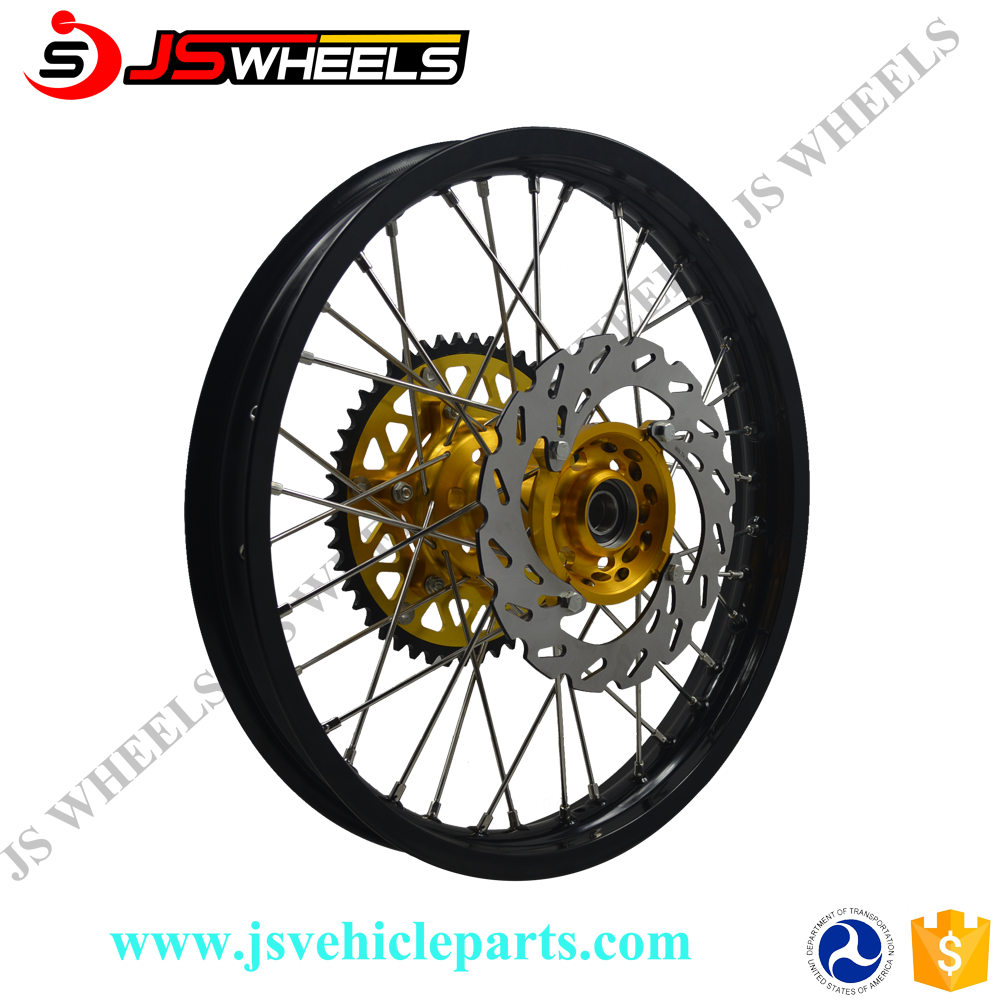 RMZ250/450 Motocross Offroad Motorcycle Alloy spoked Wheels with brake disc