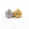 Paved Real CZ Metal Crown Shape Tassel Bead Caps jewelry findings Royal prince style gold and silver color
