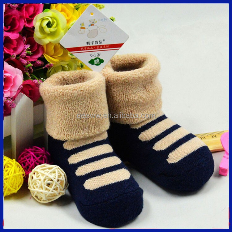 New Products 2015 Little Feet Cute Boy Child Tube Sock