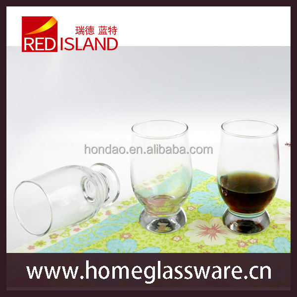 Clear High Quility Drinking Glasses Highball with Heavy Bottom