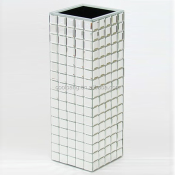 Top Quality Cheap Silver Tall Flower Mirror Mosaic Vase For Sale Buy Silver Tall Vase Cheap Flower Vases For Sale Silver Mirror Mosaic Vase Product On Alibaba Com