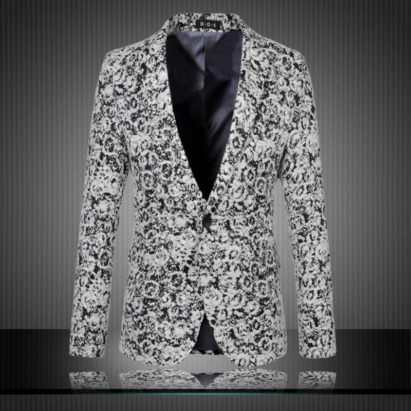 2015 new arrival fashion floral jacquard woolen blazer men slim fit plus  size 6xl blazer masculino men s suit clothing  XF30 d9bc5ff4f43f