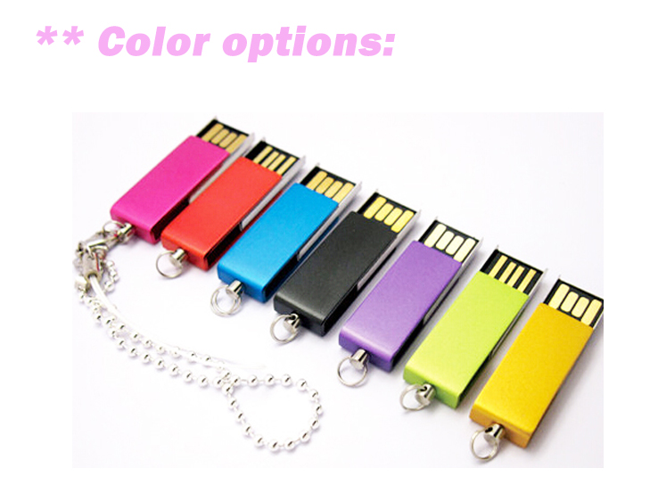 USB 3.0 Mini Metal USB Flash Drive 16gb USB Flash Memory with Chain