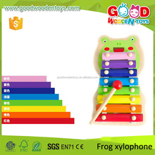 2017 Christmas Gift High Quality Frog Piano Toy Wood Music Toy for Kids