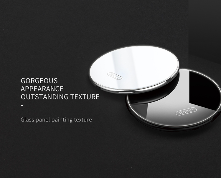 Recci Starry series Glass panel  material Wireless charger 5W, compatible with 7.5W, 10W