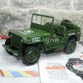KAIDIWEI 1 18 Scale Car Model Toys World War II U S Army Willys JEEP Diecast