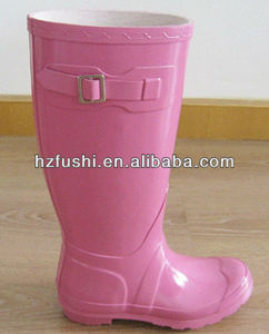 Women Pink Wellington hunting Rubber Boots