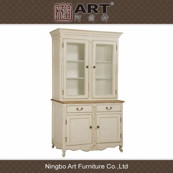 Antique furniture european design kitchen room wooden cupboard