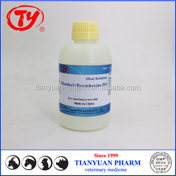 veterinary bromohexin hcl menthol liquid drug with poultry infectious bronchitis drug