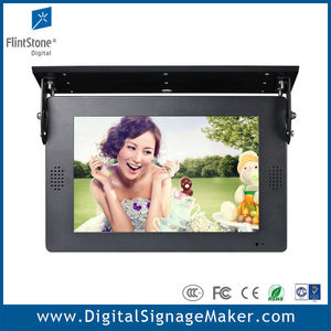 Bus/Car handle ceiling mount 1080P 19 inch lcd advertising kiosk display