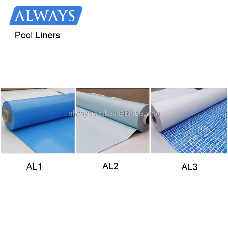Cheap Durable PVC blue mosaic inground swimming pool liner