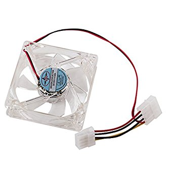WEONE Blue 80mm 4 LED 4Pin Ultra-Quiet Cooling Fan For PC Computer Chassis Case