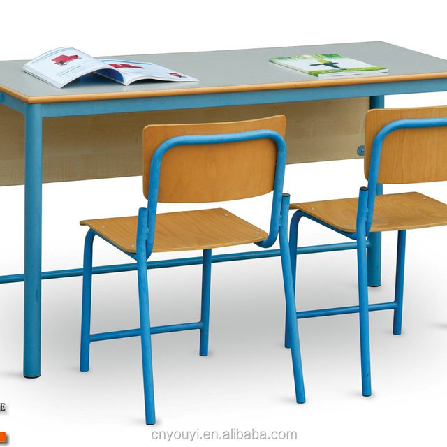 Double Or Single Student Desk And Chair School Table And Chair,School  Furniture Set