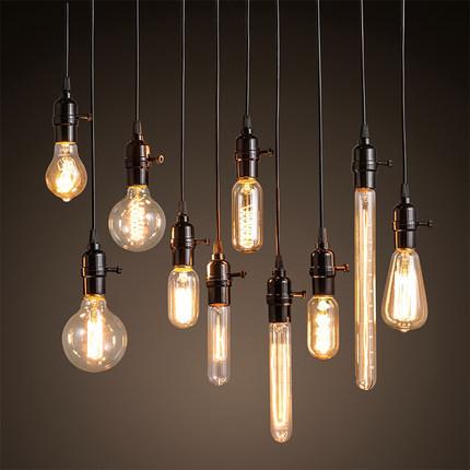 vintage industry suspension lamps edison bulb chandelier ceiling industrial luminaire for bar. Black Bedroom Furniture Sets. Home Design Ideas