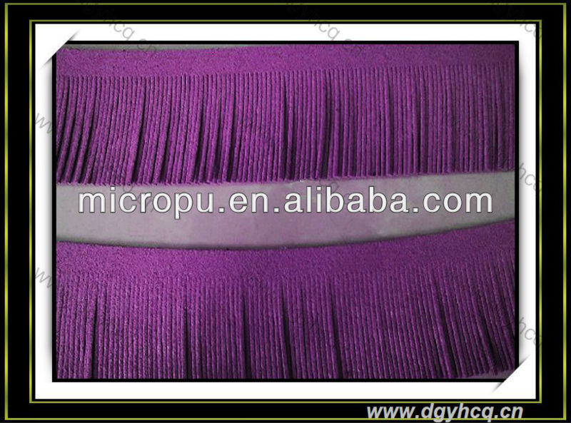 new arrival microfiber leather for rope, cable ties; weaving crafts,hand-fringed