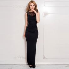 Women hot OEM new model images maxi dress wholesale lace evening dress