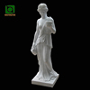 Hand Carved Famous Female White Marble Lady Statue