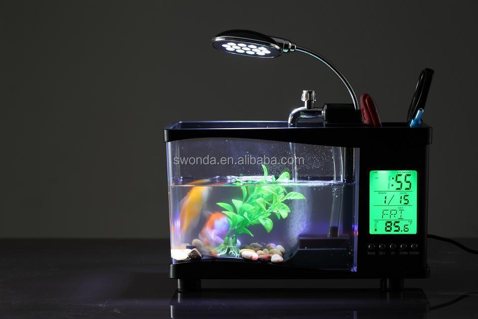Mini Multi-function Small Fish Tank Usb Desktop Lamp Light Led ...