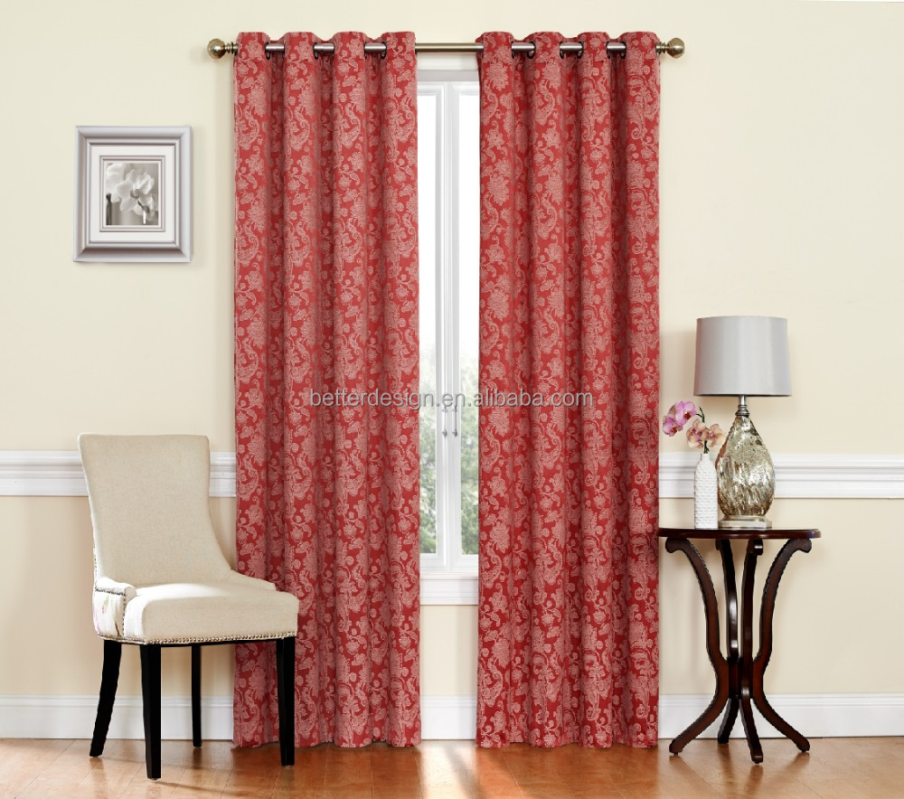 1PC SPICE,MOCHA,GREY, GREEN WOVEN JACQUARD WINDOW CURTAIN WITH GROMMETS