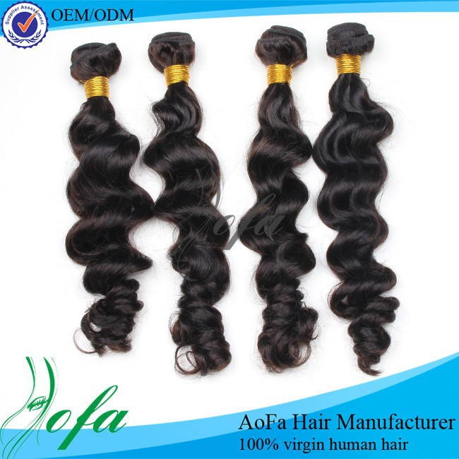 Top selling perfect extenion 6a peruvian human hair