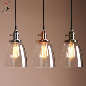 Glass Vintage Industrial Edison Bulb Ceiling Lamp Pendant Light Fixture Lights