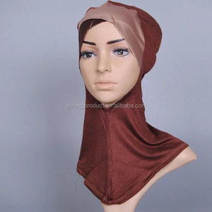 Wholesale New Style China Cotton Under Scarf Inner Cap Bonnet Hijab Neck Cover Soft Scarves Women Hijab 20colors