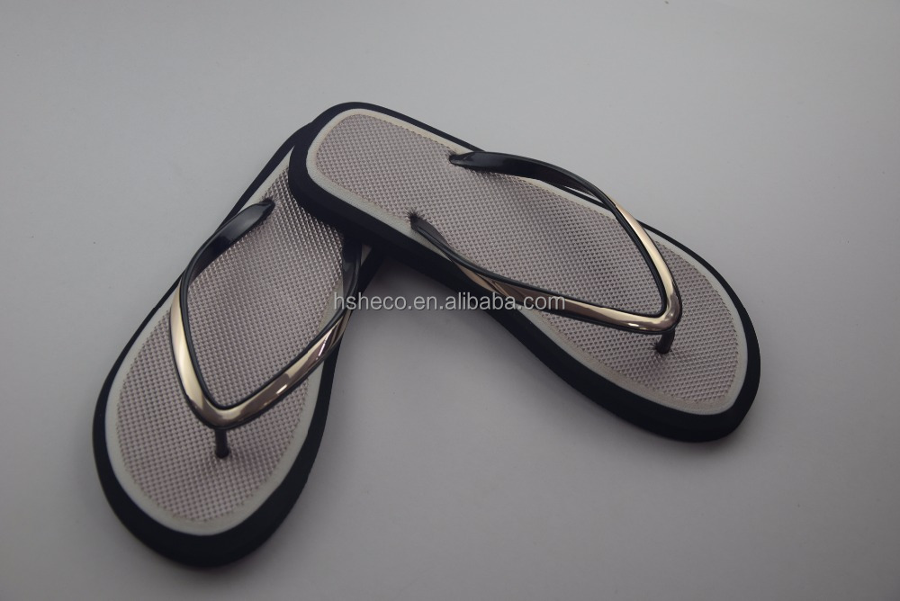 EVA sole with straw insole flip flops slipper pvc straps