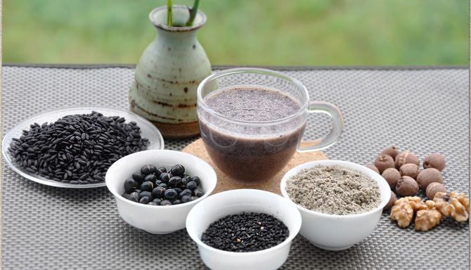 ISO 22000 puffing black soya bean powder for snacke