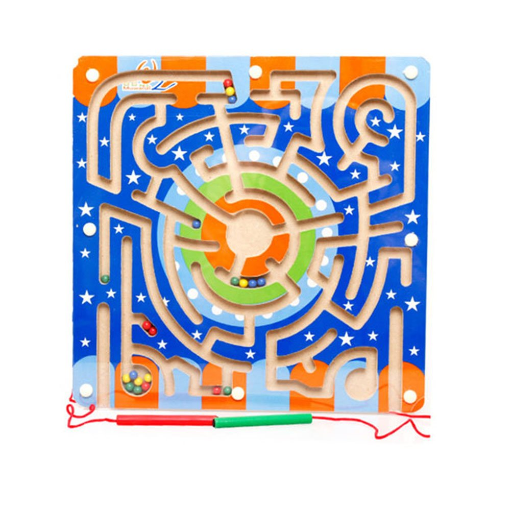 Redcolourful Children Magnetic Labyrinth Toys Interesting Magnetic Maze Toys for Boys and Girls 11.02 11.02 0.59 inch (Circular Orbit)