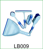Brushes Set:plastic squeegee+laundry /table /dish brush+dustpan