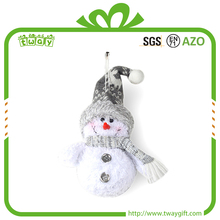 Fashion 6 inch wholesale ornaments snowman christmas pendant wall hanging decoration