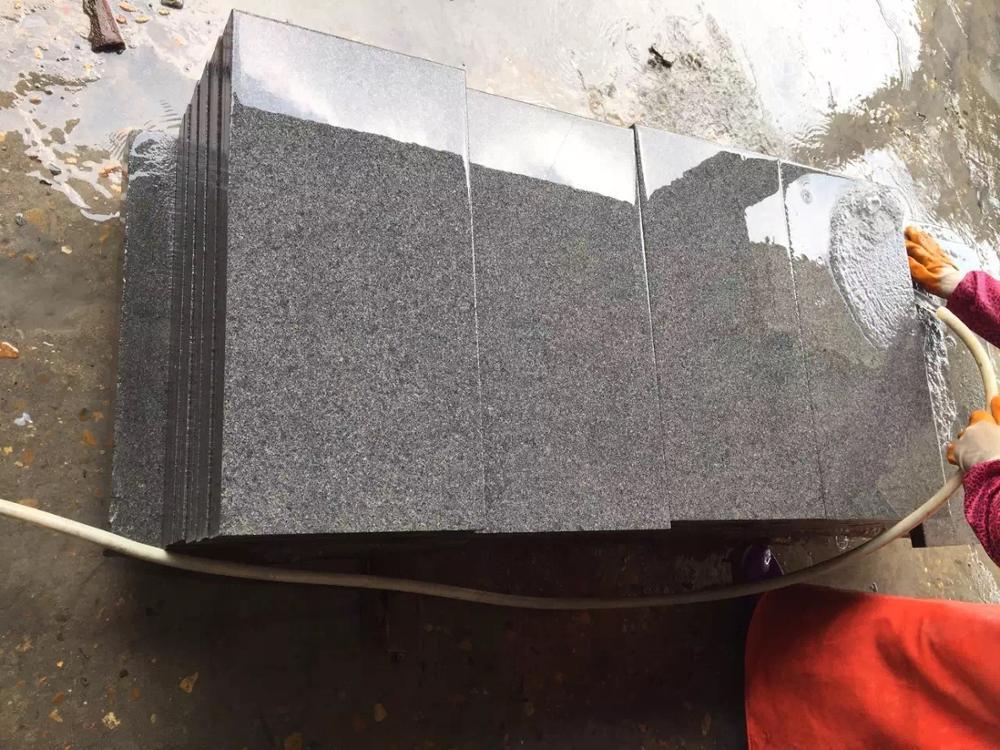 Xiamen negro barato galaxy 24x24 de baldosas de granito de bullnose los bordes de los precios de los