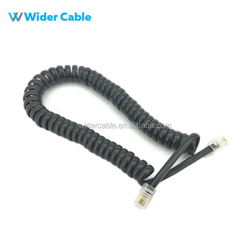 Cheapest Cat3 Rj11 4p4c 4 Wires Male To Male Coiled Telephone Cable ...