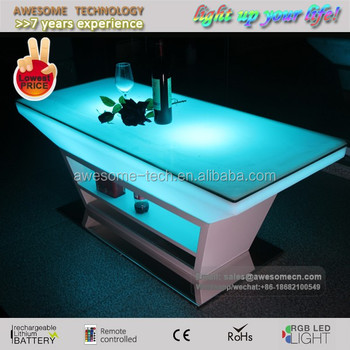Event Lounge Furniture Renatl Design Rectangle Centre Table With Led Light