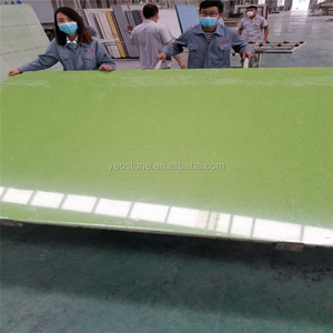 Green Color Engineering Quartz Stone Slab