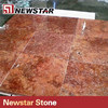 China Imported red travertine tiles 30x30