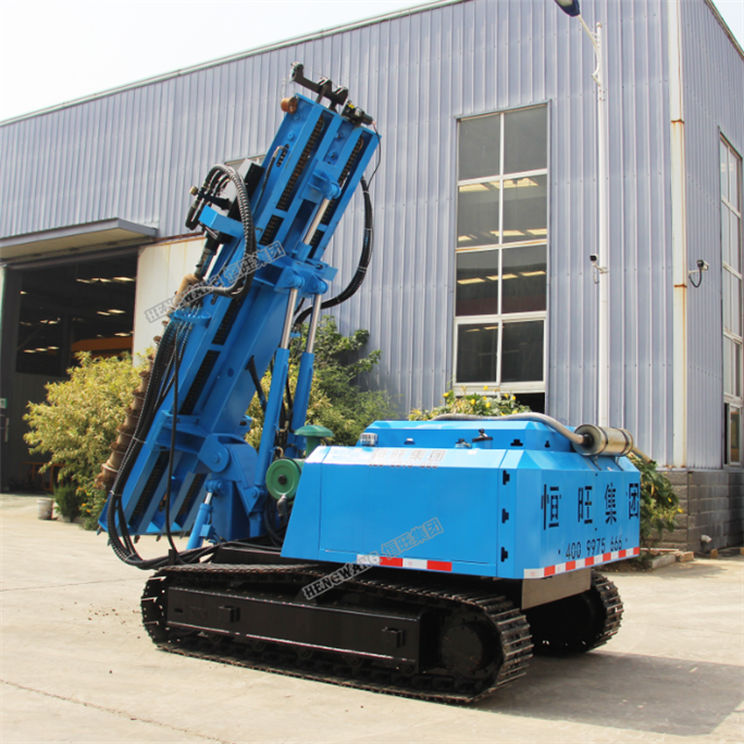 China supply hydraulic auger drilling rig / pile driving machine / screw pile driver