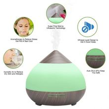 New innovative products 300ml humidifier wood grain best essential oil aroma diffuser