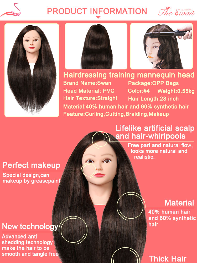 Hairdressing training heads barber training head dolls heads for hairdressing