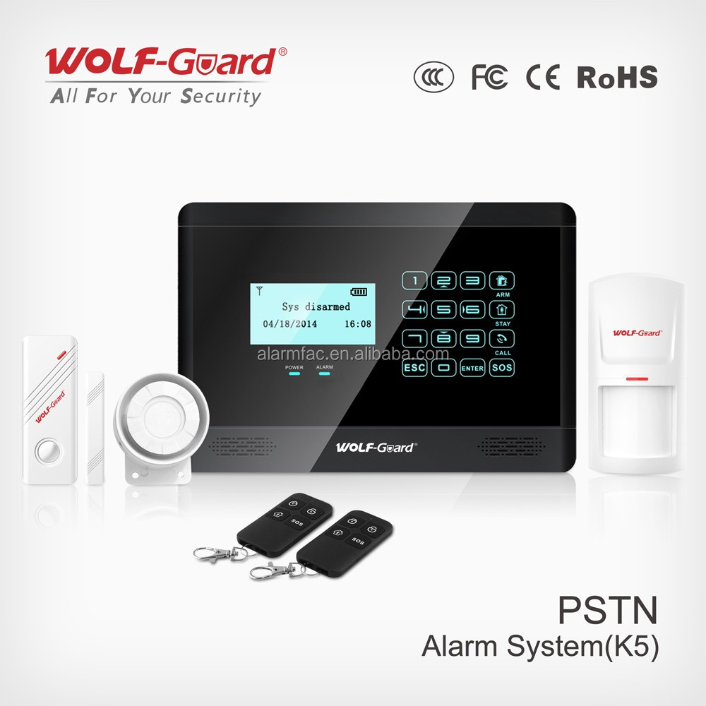 Pstn Wired Home Security Alarm System,Wireless Secutity Products ...