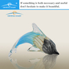 decorative crafte murano glass dolphin animal decoration pieces