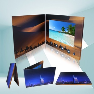 Foil Stamping High Resolution 2.4 /4.3/5/7 Inch HD TFT Lcd Video Brochure Card