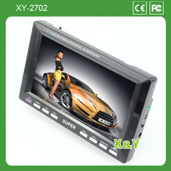 Car 7inch TV Monitor mini tv monitor stand With USB SD mp3 mp4 Player bus tv monitor XY-2702