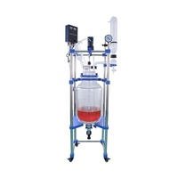 150L chemical double layer jacketed laboratory glass reactor