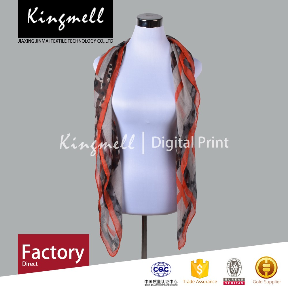 Hot fashionable high quality customized digital printing women cotton scarf